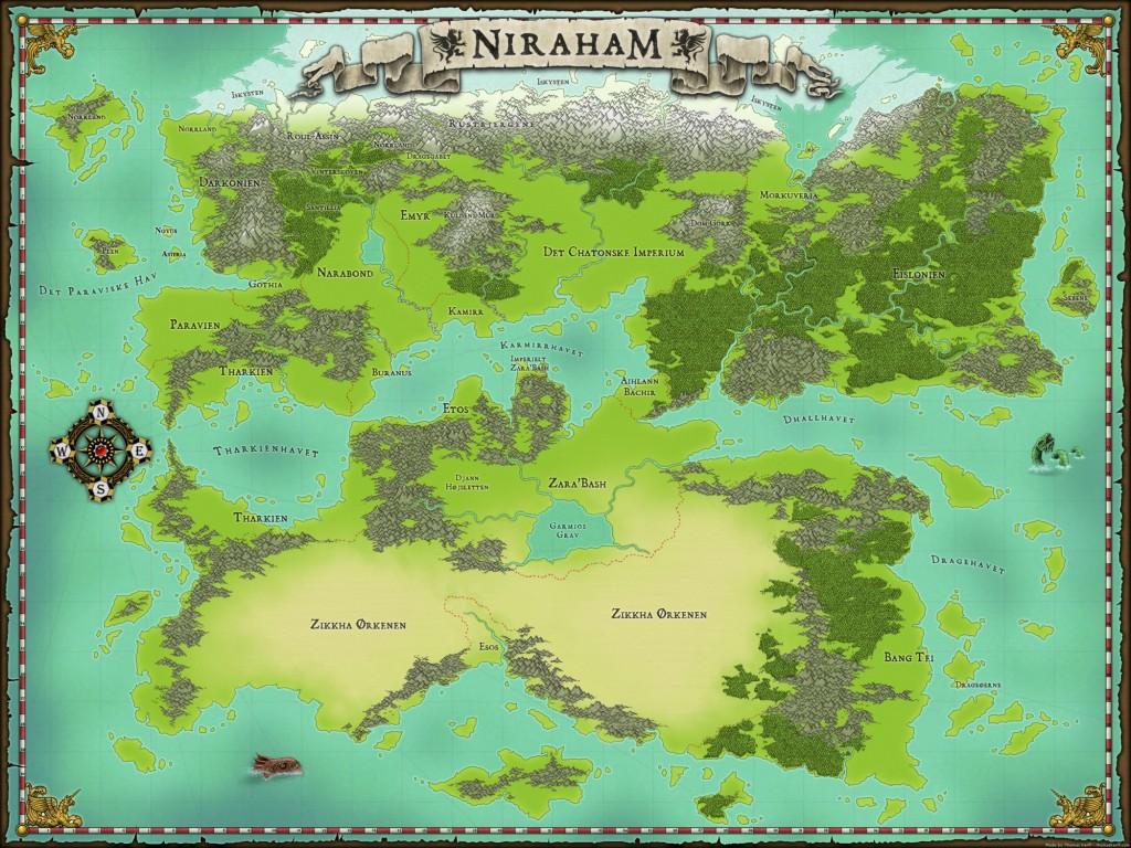 Kort over Niraham, fra Niraham.dk